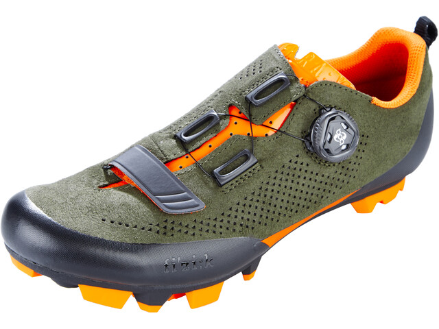 Fizik Terra X5 Suede MTB Kengät, military green/orange fluo